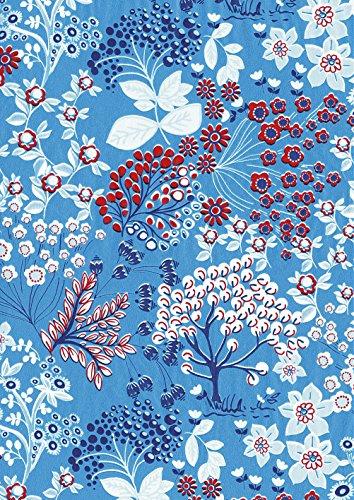 Clairefontaine Decopatch Papier No. 524 (blau Bäume weiß rot, 395 x 298 mm) 3er Pack