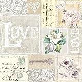 20 Servietten Love Collage Vintage/Hochzeit/Hochzeitsmotiv 33x33cm