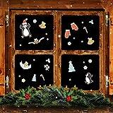 malango® Weihnachtsmotive mehrfach verwendbar Fensterfolienset Fenster Bild Fensterbild Weihnachten Weihnachtsbilder xmas Christmas ein A3 Bogen digitalgedruckt digitalgedruckt ein A3 Bogen
