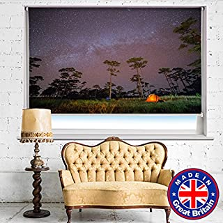 Photo Blind - Under Night Stars Milky way Space Printed Picture Blackout Photo Roller Blind - Custom Made Printed Photo Blind