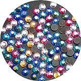 TSS mixto AB SS10–3mm 1000unidades DMC decorativos Hierro trasero de cristal Diamante Beads–Calidad Premium