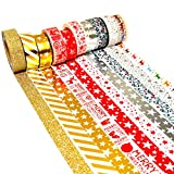 K-LIMIT 10er Set Washi Tape Dekoband Masking Tape Klebeband Scrapbooking DIY Weihnachten Christmas 9158