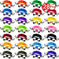 Band Wrist Bells Jingle Bracelets Musical Band Wrist Bells and Ankle Bells Musical Rhythm Toys Instrument Percussion Party Favors for Christmas School Children Kids