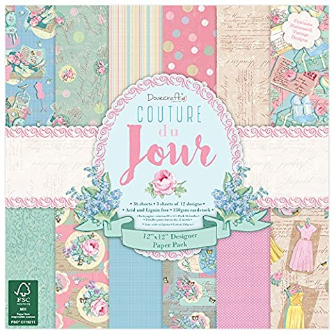 Dovecraft Couture Du Jour Collection - Paper Pack 12