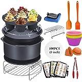 Accessoires pour friteuse Air Fryer 15 Pièces,Kit d'accessoires universels pour friteuse à air chaud XL de 8 pouces pour Phil