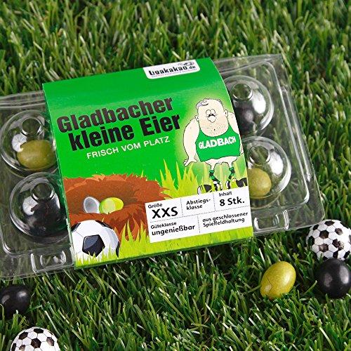 Gladbacher Kleine Eier Oster-Überraschung gemein leckere Schokoeier frisch vom Platz, zum Ärgern von Borussia M\'gladbach Fans | Süßigkeiten Schokonüsse