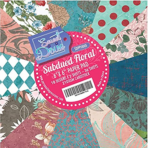 Sweet Dixie Sudbued Floral 6x6