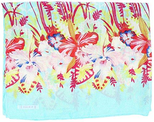 Kuldip Crushed Effekt Pashmina Stil Schal Wickeln. Schönes Schmetterling und Schmetterling mit Blume Designs. Gr. Einheitsgröße, Butterfly and Flower Light Turquoise