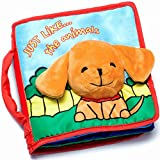 Soft Cover Book for Babies & Toddlers   Durable Fabric Activity Books   Educational Toy   Perfect Baby Shower Gift for Boys & Girls   Includes Bonus eBook & Luxury Gift Box