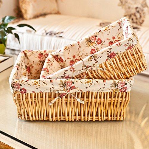 Hoobor House mobili in vimini, la famiglia di desktop 0 detriti paniere alimentare di ammettere Cancelleria ammettere Basket,Basket tessuti leggeri Pattern,44*33*16