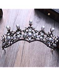 &zhou Tocado nupcial de la joyería del pelo por los accesorios 26 * 7cm del vestido de boda de la mano