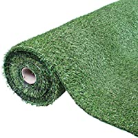 GardenKraft 26080 Rollo de césped artificial, 4x 1m, 30mm, color verde
