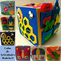 Cubo de Actividades 15x15 MODELO D, Juguete para niños, Juguete sensorial, Activity Cube, Hub, Vida práctica, Juego divertido, Juguete Educativo