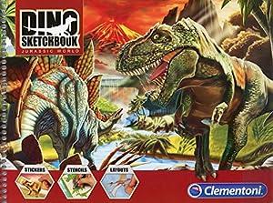 Clementoni - Sketchbook Dinosaurios, álbum (157976)