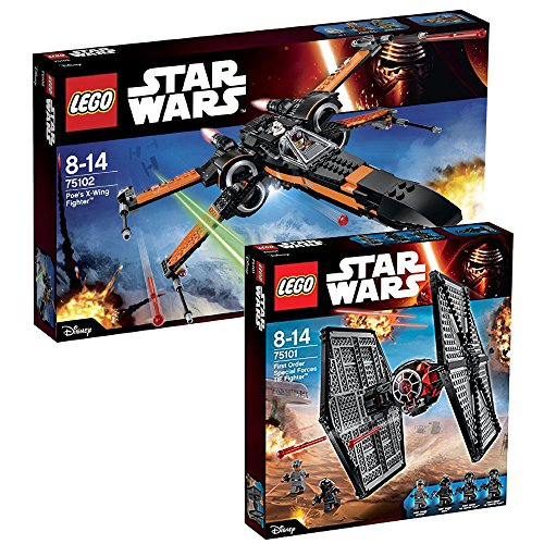 Lego Star Wars 2er Set 75101 75102 Special Forces Tie Fighter + Poe's X-Wing (Wars Fighter Star Tie Rebels)