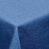 amp -artshop© Leinen Optik Tischdecke · Eckig 130x160 cm Blau - Farbe , Form & Größe wählbar · mit Lotus Effekt