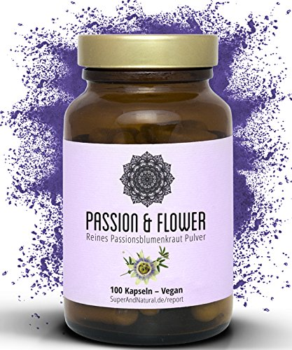 Passionsblume Kapseln I Passion & Flower I 100 Vegane Kapseln I 750 mg I Für Mehr Gelassenheit Und Erholsame Nächte I By Super & Natural