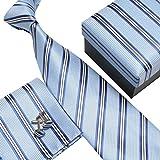 Ouvin - Corbata - para hombre Azul azul claro Talla única