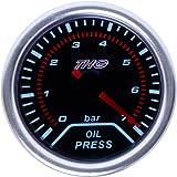 Almencla 52 Mm Universal Öldruckanzeige Für Auto Motorrad Boot Dc 8 16v Dc 18 32v In Weiß Auto