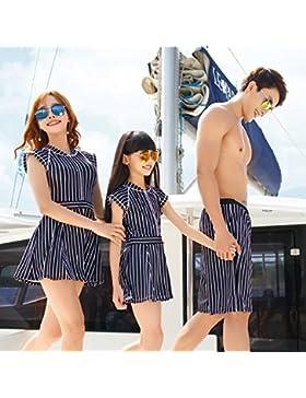 Conjuntos de Bikini Sexy Traje de Baño Trajes de Baño Raya de Adelgazamiento Hijos de una Familia de Tres Hijos...