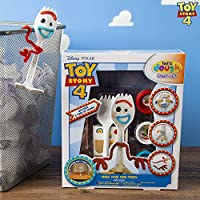 Disney Toy Story 4 Make Your Own Forky with Scene | Craft Set with 3 Dough Tubs, Forky Model and Accessories | Create Your Own Movie Character Forky Activity Set for Kids | All In One Creative Toy