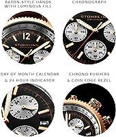 Stuhrling Original Reloj analógico para Hombre de japonés con Correa en Cuero 669.04 de Stuhrling Original