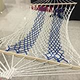 WXDC amache Amaca all'aperto, rete di dormitori universitari millenaria, alveo, altalena per adulto, bambino con corda per dormire, sedia da culla per interni., 120 bastoncini [1 metro di larghezza] cordino legato blu .