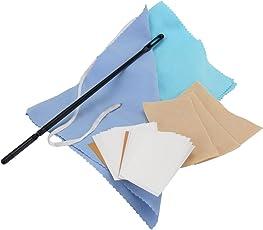 Classic Cantabile Reinigungsset für Querflöte (zur Innen- und Außenreinigung von Instrumenten, inkl. ein Reinigungsstab, 3 x Reinigungstuch, ein Durchzieh- Wischertuch, ein Poliertuch und Pad Papers)