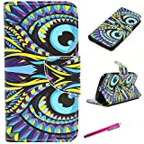 S4 Case, JCmax Premium Flip PU Wallet Case With Card Slots and St