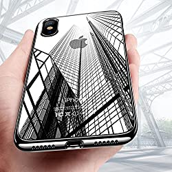 "Funda iPhone X, Mture iPhone X Carcasa Ultra Fina Caso Anti-Arañazos Silicona TPU Protectora Funda Case Para Apple iPhone X 5.8""(2017) - Negro"
