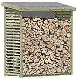 Gartenpirat Kaminholzregal für 2,3 m³ Brennholz Brennholzregal Holz KDI für aussen