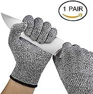 Woogor Knife Cut Resistant Nylon, Hand Safety Gloves for Kitchen, Industry, Sharp Items, Gardening, Multipurpo