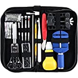 Sopoby Watch Tool Set 147-piece Watch Clock Repair Tool Set Watch Tools Case Opener in Nylon Bag Tool