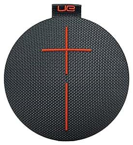 UE ROLL 2 Ultraportable Bluetooth Speaker with Floatie, Waterproof and Shockproof - Black/Orange