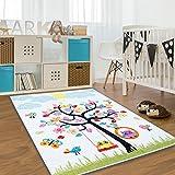 Kinder Teppich Moda Öko Tex Baum creme bunte Farben verschiedene
