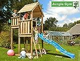 JUNGLE GYM Spielturm Jungle PALACE mit Wellen-Rutsche