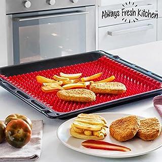 Always Fresh Kitchen Health Cook Mat Matte Zum Backen, Silikon, Rot, 30x 2.5x 21cm