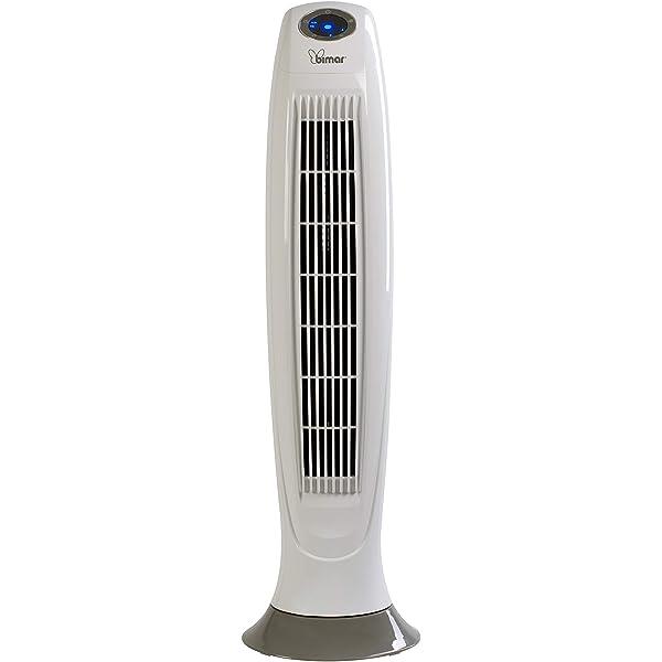 da 120,5 cm Bianco Ventilatore ionizzante a colonna Bimar con cassa audio bluetooth
