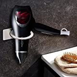 Kitlit Edelstahl Haartrocknerhalter ohne Bohren Fönhalter Fönhalterung Haartrockner Wandhalter Glätteisenhalter Gebü