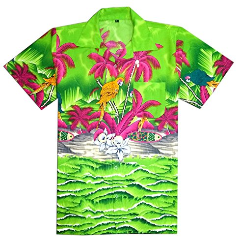 Virgin Crafts Hawaiihemd Herren Kurzarm Printed Casual Beach Shirt -
