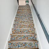 weiwei Decorative Stickers, Creative Mosaik Color Stone, Familienhotel Persönlichkeit, Treppe Dekoration Aufkleber