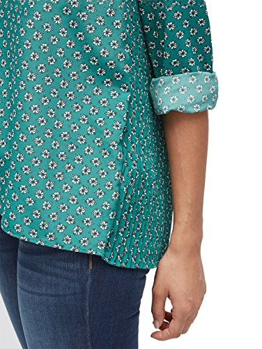 TOM TAILOR Damen Bluse Beautiful Plissé Blouse ecuador green