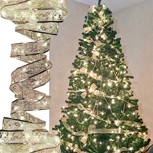 Stringa fata luci led, catene luminose, ribbow strisce luci led, 40 led 13ft/ 4m, filo di rame, illuminazione balcone per decorazioni albero di natale feste matrimoni vacanze interno ed, bianco caldo