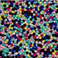 50 x Mixed Multi coloured Random Round Quality Smooth 5mm Beads Floristry Berries Flower Arranging Wedding Bridal Sea Boat Beach Rig Carp Coarse Fishing Attractor Lure Craft Doll Bear Teddy Eyes by Pretty Petal Posies