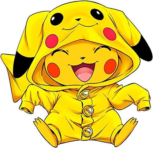 Pull Manga - Parodie de Pikachu de Pokemon Cosplayé en... Pikachu :) - Imbattable dans les concours de Cosplay... :) - Pull Noir - Haute Qualité (880) Noir