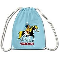 Spreadshirt Yakari Fait Du Cheval Sur Petit Tonnerre Sac à dos cordon
