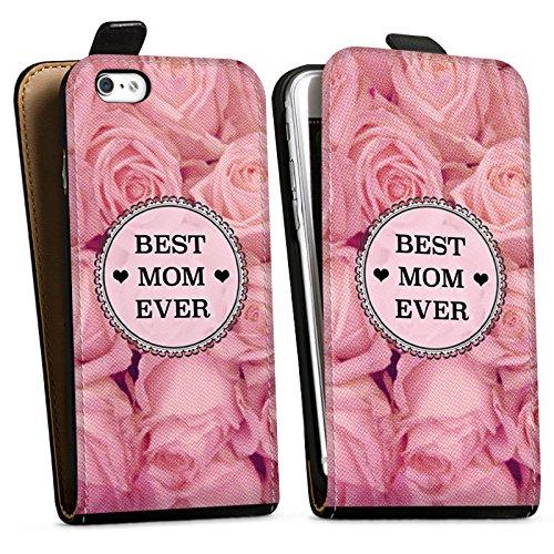 Apple iPhone X Silikon Hülle Case Schutzhülle Muttertag Geschenk Mama Downflip Tasche schwarz