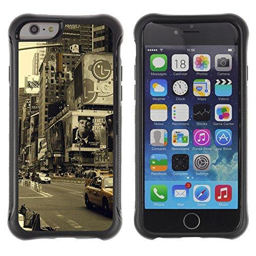 Graphic4You Brooklyn Bridge New York Postkarte Ansichtskarte Design Shockproof Anti-Rutsch Weichen Hülle Case Tasche Schutzhülle für Apple iPhone 6 / 6S Design #9