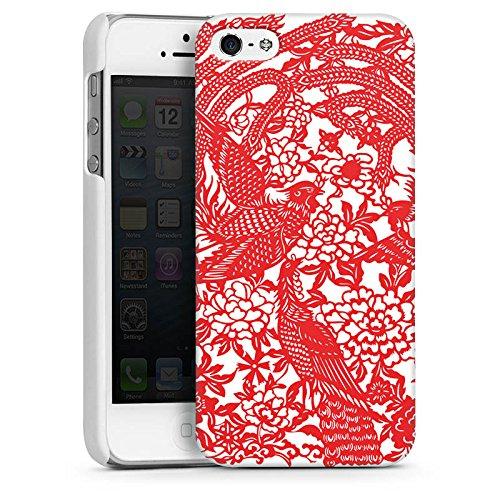 Apple iPhone 4 Housse Étui Silicone Coque Protection Oiseaux Ornements Fleurs CasDur blanc