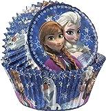 Disney Frozen (Regina di ghiaccio) 50carta forme, Pirottini per muffin cup cake Pirottini, 7cm diametro